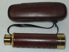 Tasco 1AG 25x30mm Vintage Pocket Telescopic Telescope W/Leather Case 1980s Japan