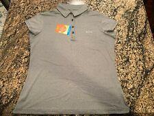 Columbia Omni-Shade Sunlight Peak Golf Polo Shirt Gray Womens Sz XL