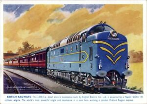 British Railway Illustrated by Alan Anderson   Vintage Poster   A1, A2, A3