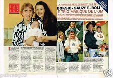 Coupure de presse Clipping 1993 (4 pages) Olympique de Marseille Boksic Sauzée