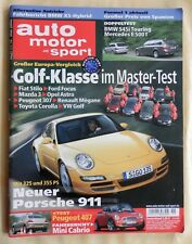 Auto Motor und Sport 11 Mai 2004 Porsche 911 BMW 545i Touring Mercedes E500 T