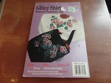 What's New Glitzy Shirts Iron-On Applique Kit-77134 Red Poppies #2055
