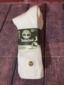 Timberland Men's The Original Yellow Boot Socks Cushioned 3 Pairs shoe size 9-12