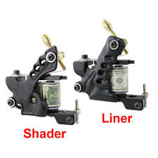 2x Premium Tattoo Machine Custom Dual 10-Wrap Coils Supply Set - Liner & Shader