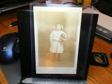 #9226,Real Photo,Little Girl @ New Philly Ohio Circa 1910 w Steiff Type Bear