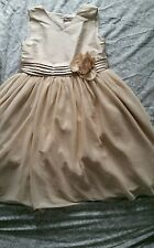 GIRLS DRESS IDEAL BRIDESMAID AGE 8-9 YEARS BARELY WORN GOLD
