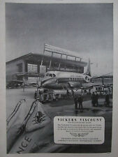 9/1953 PUB VICKERS VISCOUNT AIRLINER AIR FRANCE AIRLINE PARIS ORLY ORIGINAL AD
