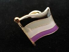 ASEXUAL Flag Lapel Pin - Superior High Quality Gloss Enamel (LGBT Gay Pride)