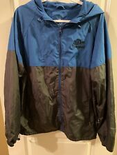 Disneyland Parks Windbreaker Hooded Jacket Full Zip Blue Gray Size Large