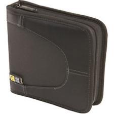 Durable CD Organizer Wallet Case 16 Capacity HeatResistant Small Organizer Black