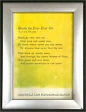 Framed Tolkien Poem From The Hobbit ~ The Road Goes Ever On
