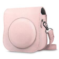 For Fujifilm Instax Mini 25 26 Instant Camera Case Bag Cover + Strap -Rose Gold
