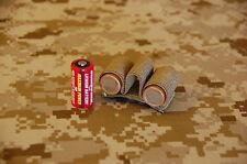 CR123 3-Cell Battery Holder Elastic NSWDG AOR1 DEVGRU PEQ15 Scout 600C Hook