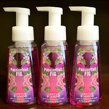 3 BATH & BODY WORKS PASSIONFRUIT FIG GENTLE FOAMING HAND SOAP ANTI BACTERIAL LOT