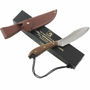 """Grohmann Survival Rosewood Handles Fixed Blade Knife 10.25"""" Full Tang Sheath"""