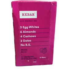 RXBAR Protein Bars Mixed Berry 12 Bars 1 83 oz 52 g Each All-Natural,