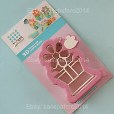 3D Flower Pot Cookie Cutter Spring Sweet Creations By Good Cook. Maceta y Flor