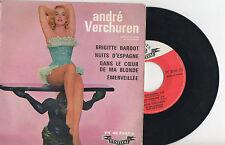 ANDRE VERCHUREN ► BRIGITTE BARDOT - 45 Tours Vinyle - FRANCE - 1961