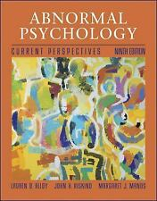 Abnormal Psychology : Current Perspectives by Lauren B. Alloy (2008, CD-ROM / Ha