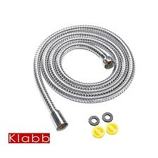 Klabb stainless steel Shower Hose 96 Inches=2.45 Meters Extra Long Chrome Han.