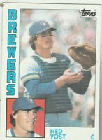 FREE SHIPPING-MINT-1984 Topps #107 Ned Yost Brewers PLUS BONUS CARDS