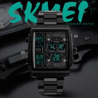 SKMEI Herren Freizeituhren Silikon Chrono EL Light Digitales Quadrat Watch 1274