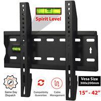 "TV Wall Bracket Mount 3D Fixed Plasma LED LCD 15 20 25 28 30 32 35 40 42"" Inch"