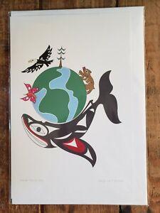"""WORLD EARTH DAY"" by Coast Salish artist Doug La Fortune  Art card 6x9"""