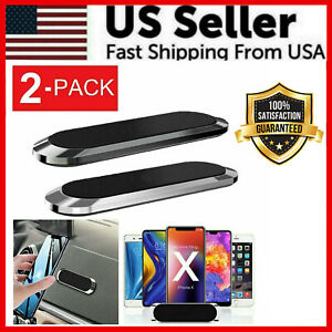 2 PCS Strip Shape Magnetic Car Phone Holder Stand For iPhone Magnet Mount Holder