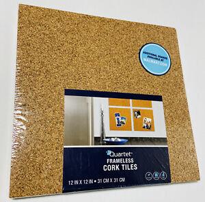 "Cork Tiles Bulletin Frameless 12"" X 12"" Squares 4 pk Hardware Included Portugal"