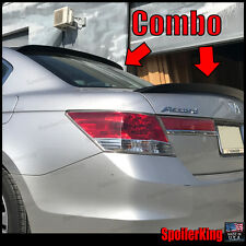 Honda Accord 2008-2012 4dr Rear Roof Spoiler & Trunk Wing Combo (380R/301G)