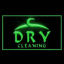190023 Open Dry Cleaning Laundromat Cleanest Display Led Light Neon Sign