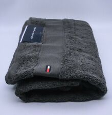 Tommy Hilfiger Bath Towel In Grey Cotton Brand New Genuine Item With Tags