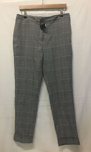Tagged Next Tailoring Trousers Checkered Glen Check Smart Size 12R RRP £30 (.01)