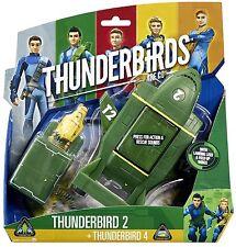 Thunderbirds 2 & Mini Thunderbird 4 TB4 Vehicle Toy Sound Effects Brand New !!