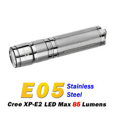 Fenix E05 SS E05 Stainless Steel Cree XP-E2 LED 85Lumens AAA Flashlight Torch
