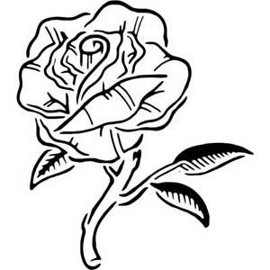 'Rose' Wall Stencils / Templates (WS006438)