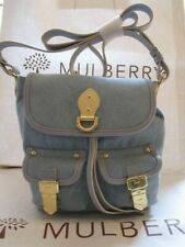 New Mulberry Tillie Small Drawstring Washed Denim Messenger Bag