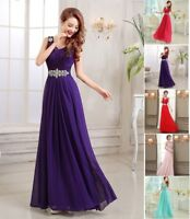 Long Lace Chiffon Evening Formal Ball Gown Party Prom Bridesmaid Dress