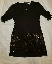 Anita Su Women's Lai Car Fore Black Sequin Dress Size 11 Asia Size L (B1)