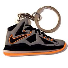 AIR LEBRON JAMES LBJ X 10 EXT LAVA CHARCOAL ORANGE SNEAKERS SHOES KEY CHAIN RING