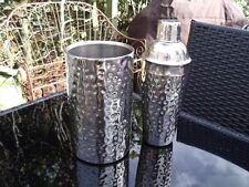 Acero Inoxidable Coctelera & Wine titular/Enfriador ligeramente Martillado.