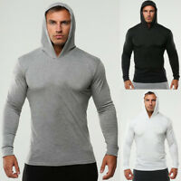Men Gym Muscle Sportswear Fitness Athletic Casual Hoodies Pullover Sweatshirt