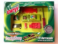 ERTL Body Shop Mountain Dew Model Kit 70 1970 Plymouth Barracuda Die Cast 1/64