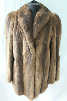 Stunning Genuine 1940's Vintage Nutria Real Fur Jacket In Excellent Condition