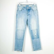 ANTHROPOLOGIE Pilcro Hyphen patchwork jeans 25 Blue Weekend Casual Ankle