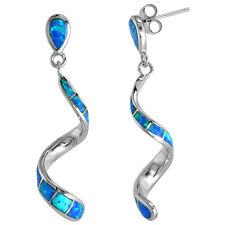 Sterling Silver Opal Swirl Earrings