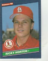 FREE SHIPPING-MINT-1986 Donruss #138 Ricky Horton St. Louis Cardinals