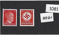 MNH stamp set / PF08 / Adolph Hitler & WWII emblem / Third Reich / MNH stamps