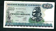 Zimbabwe (P4d) 20 Dollars 1994 F+/aVF
